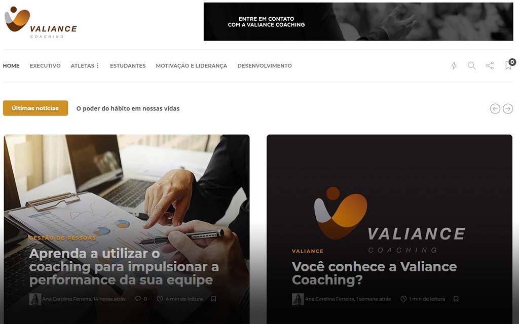 Conheça o novo blog da Valiance Coaching